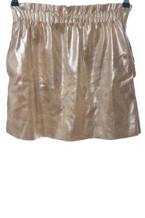 Zara Knit Minirock goldfarben Elegant
