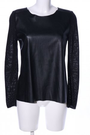 Zara Knit Mesh Shirt black casual look