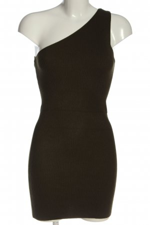 Zara Knit One Shoulder Dress brown casual look