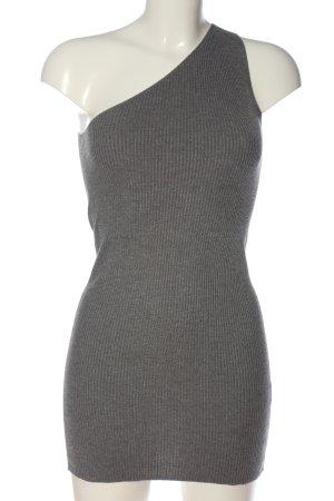 Zara Knit One-Shoulder-Kleid hellgrau Casual-Look
