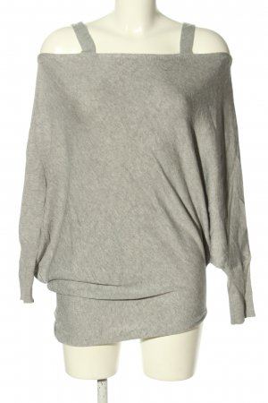 Zara Knit Eénschoudershirt lichtgrijs gestippeld casual uitstraling