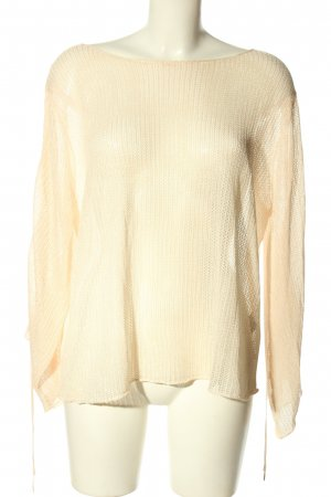 Zara Knit Blusa ancha crema look casual