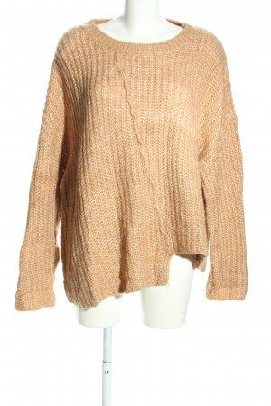 Zara Knit Pull oversize rose chair torsades style décontracté