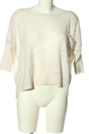 Zara Knit Maglione oversize bianco sporco puntinato stile casual