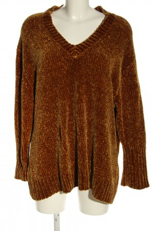 Zara Knit Oversized Pullover braun Casual-Look