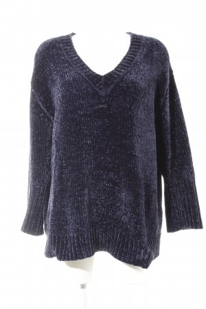 Zara Knit Oversized Pullover taupe-dunkelviolett abstraktes Muster