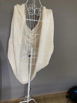 Zara Knit Gilet tricoté doré-blanc cassé