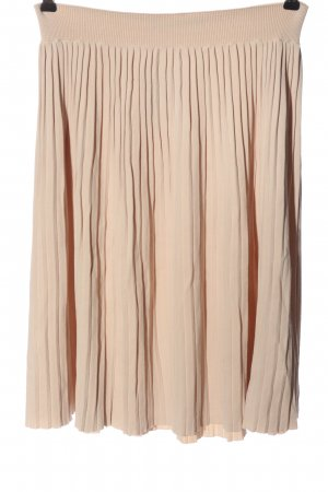 Zara Knit Plisowana spódnica nude Elegancki