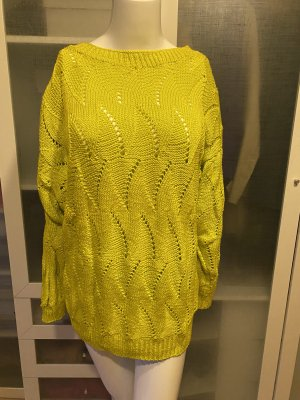 Zara Knit Cable Sweater yellow