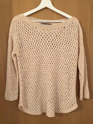 Zara Knit Pullover a maglia grossa rosa pallido-rosa antico