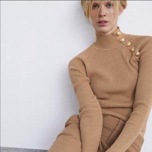 Zara Sweter z dzianiny Wielokolorowy