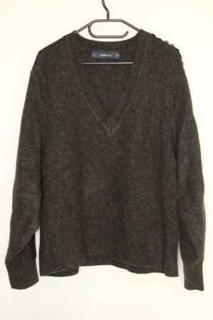 ZARA Knit Pullover mit Stick- und Häkelei