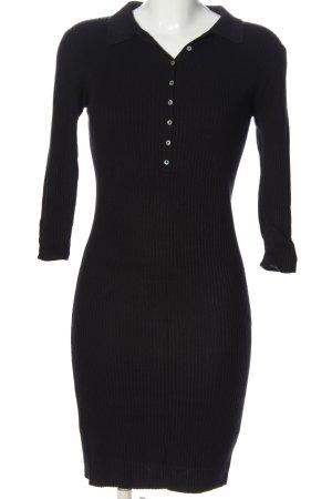 Zara Knit Sweaterjurk zwart casual uitstraling
