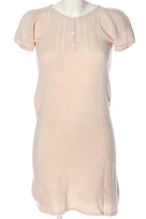 Zara Knit Vestido tipo jersey crema punto trenzado look casual