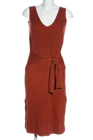 Zara Knit Pulloverkleid braun Zopfmuster Casual-Look