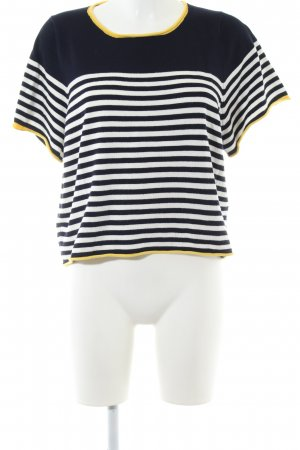 Zara Knit T-shirt rayé motif rayé style décontracté
