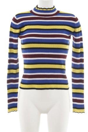 Zara Knit Rippshirt Allover-Druck Business-Look