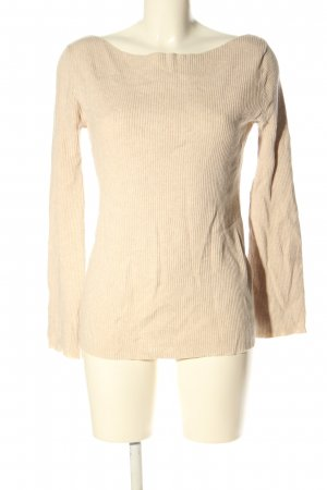 Zara Knit Rippshirt creme Casual-Look
