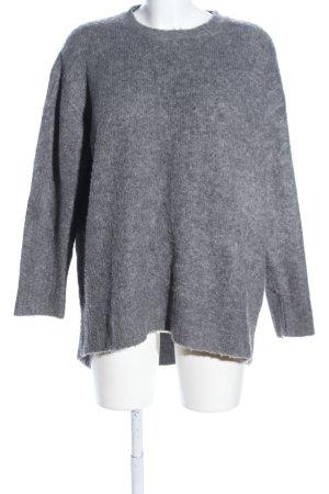 Zara Knit Turtleneck Sweater light grey flecked casual look