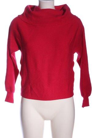 Zara Knit Rollkragenpullover rot Streifenmuster Casual-Look
