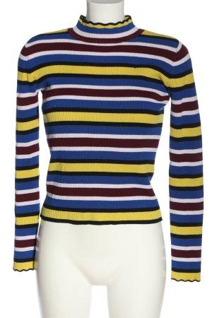 Zara Knit Rollkragenpullover Streifenmuster Casual-Look