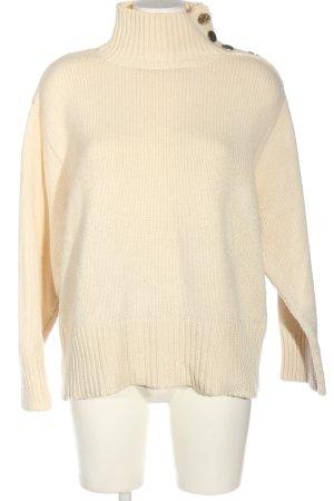Zara Knit Maglione dolcevita bianco sporco stile casual