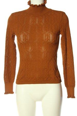 Zara Knit Rollkragenpullover braun Casual-Look