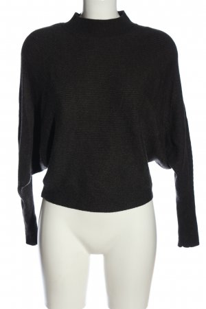 Zara Knit Jersey de cuello alto negro look casual