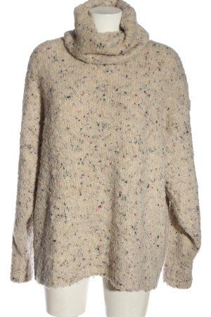 Zara Knit Rollkragenpullover creme Casual-Look