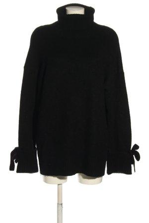 Zara Knit Rollkragenpullover schwarz Casual-Look