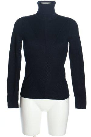 Zara Knit Rollkragenpullover blau Casual-Look