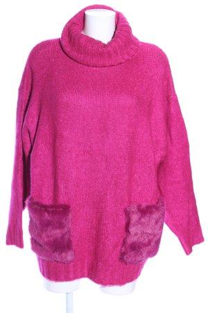 Zara Knit Rollkragenpullover pink Casual-Look
