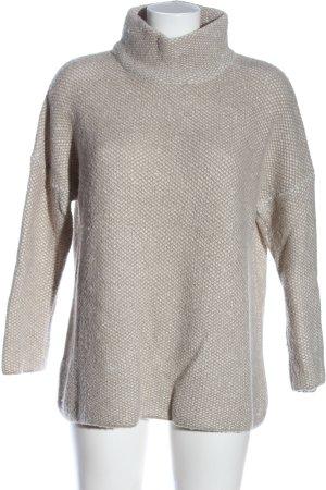 Zara Knit Rollkragenpullover hellgrau Casual-Look