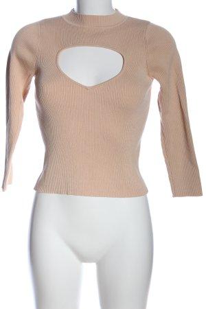 Zara Knit Rollkragenpullover nude Casual-Look