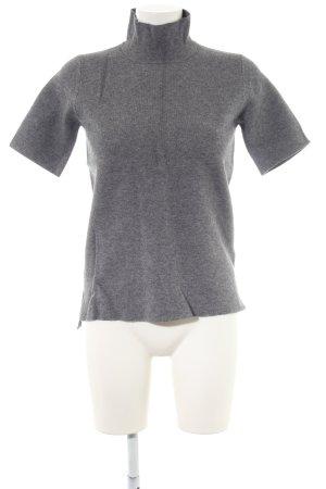 Zara Knit Camisa de cuello de tortuga gris claro moteado estilo «business»