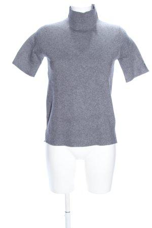 Zara Knit Camisa de cuello de tortuga gris claro moteado look casual