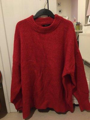 Zara Knit - roter, langer & flauschiger Pulli