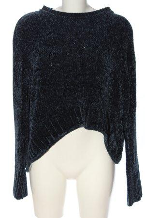 Zara Knit Rundhalspullover blau Casual-Look
