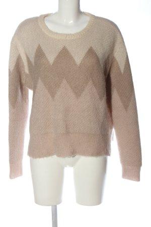 Zara Knit Rundhalspullover grafisches Muster Casual-Look