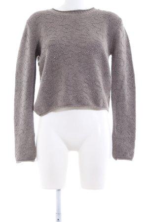 Zara Knit Rundhalspullover braun Casual-Look