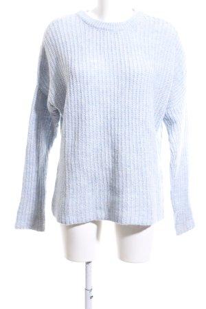 Zara Knit Rundhalspullover blau Zopfmuster Casual-Look