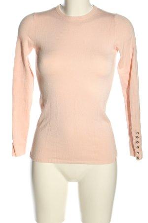 Zara Knit Maglione girocollo rosa stile casual