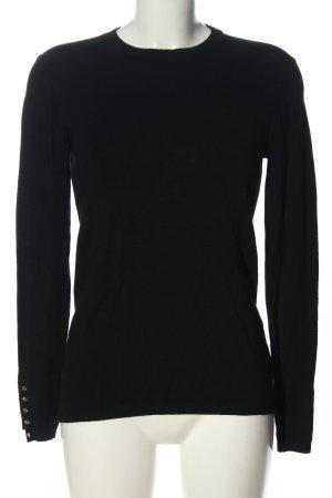 Zara Knit Rundhalspullover schwarz Elegant