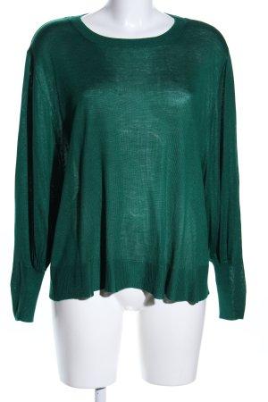Zara Knit Crewneck Sweater green casual look