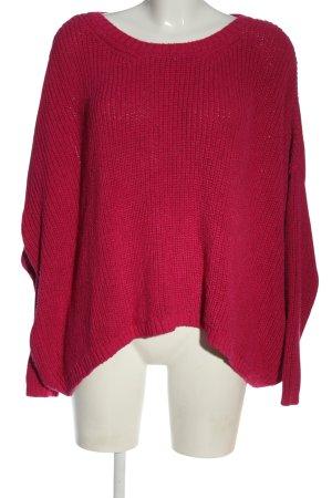 Zara Knit Rundhalspullover pink Casual-Look