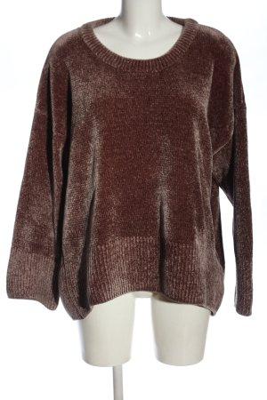 Zara Knit Rundhalspullover rot Casual-Look