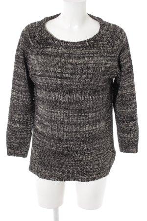 Zara Knit Rundhalspullover schwarz-grau Casual-Look