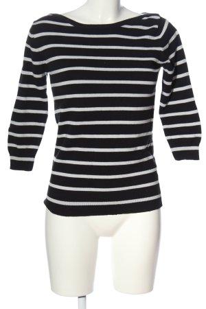 Zara Knit Rundhalspullover schwarz-weiß Allover-Druck Casual-Look