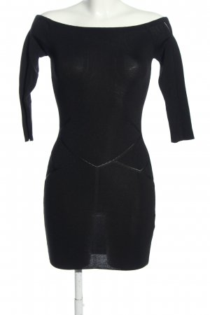 Zara Knit Schlauchkleid schwarz Elegant