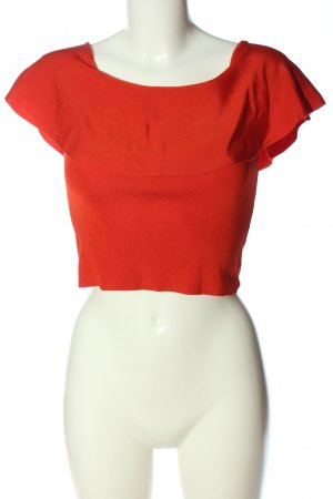Zara Knit Schlupf-Bluse rot Casual-Look